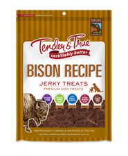 Tender & True Bison Recipe Jerky Treats, 4 oz