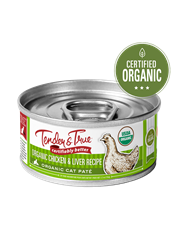 Tender & True Organic Chicken & Liver Recipe for Cats, 5.5 oz