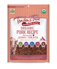 Tender & True Organic Pork Recipe Jerky Treats, 4 oz
