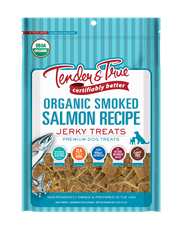 Tender & True Organic Salmon Recipe Jerky Treats, 4 oz
