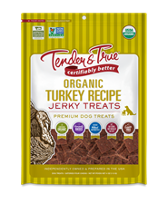 Tender & True Organic Turkey Recipe Jerky Treats, 4 oz