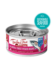 Tender & True Salmon & Sweet Potato Recipe for Cats, 5.5 oz