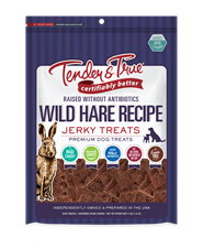 Tender & True Wild Hare Recipe Jerky Treats, 4 oz